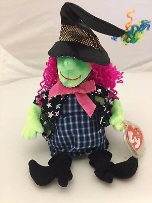 "TY ""Star"" Beanie Babies - 2001 ""Scary"" Halloween Witch - Mint w Mint Tag"
