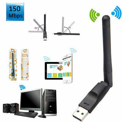 2.4Ghz 150Mbps USB Wifi Adapter High Gain Wireless Network Dongle w/ Antenna