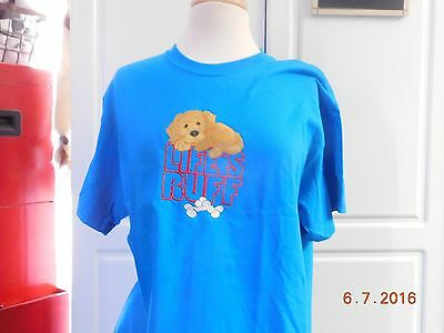 "New ""lifes Ruff"" With A Golden Retriever Embroidered T-Shirt"