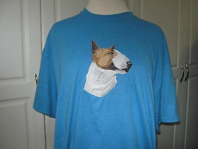 New Bull Terrier Head Study Embroidered T-Shirt Add A Name For Free