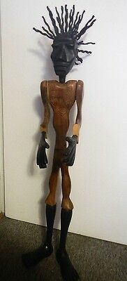 Wooden Hand Carved Tribal African Detachable Man Figurine