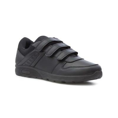 Mens Trainer Triple Touch Fasten Trainer in Black by Podium