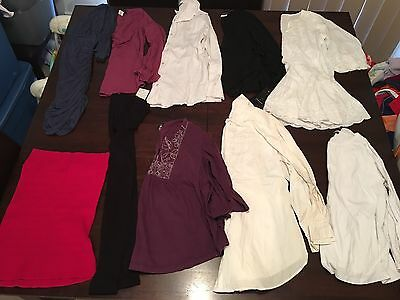 10 Ladies Maternity Pregnancy Mixed Items Bulk Size Small Lot Of Clothes