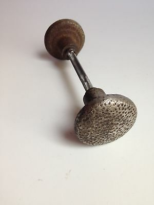 Antique Vintage Retro Door Knob Handle Set, Iron Metal Textured, Salvaged