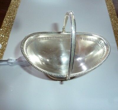 Antique Silver Plate Basket-Hallmarked and Makers Stamp