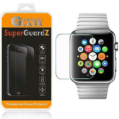 3X SuperGuardZ® Tempered Glass Screen Protector For Apple Watch Series 3 38 mm