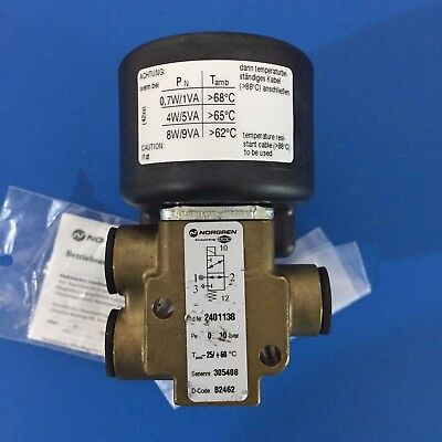 Norgren Herion 24011 Series Solenoid Valve 2401138 with 24V 3.9W 4210 4260 coil