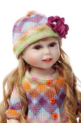 "18"" 45cm very cute semi soft fashion smiling vinyl doll education Christmas toy"