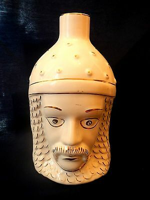 Valarte Portuguese Porcelain Hand Painted Wine Bottle Two Faces Signed
