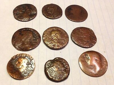 Authentic Bronze Roman coins low Lot.Metal detector finds SF46