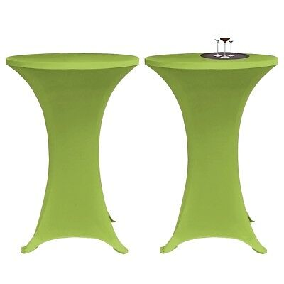 2 Stretch Table Covers Cloth 80 cm Reusable Green Home Banquet Party Wedding