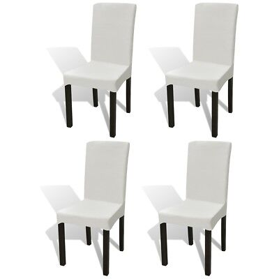 4 pcs Straight Stretchable Chair Cover Protector Party Wedding Banquet Cream