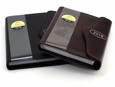 2018 A6 Day to Page Leather Organiser Appointment Office Desk Index Diary