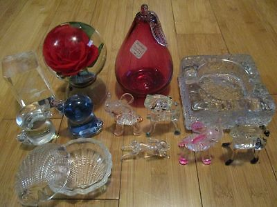 Bulk Lot Glass / Acrylic Stuff Melting Pot As Pictured Duck Rabbit Rose Elephant