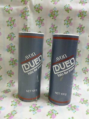 Vtg Avon Talc 2 x Duel Talc for Men  (100 gram ) *Sealed