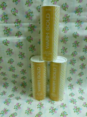 Vintage Avon Talc 3 x Warm Gold 100g each *Sealed