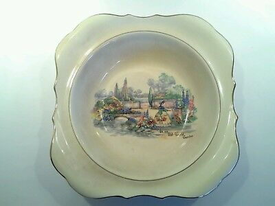 Sandland Ware Large Bowl, In an Old World Garden with Crinoline Lady