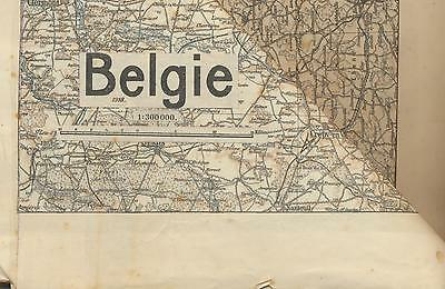 carte géographique -collection Belgique 1918 -voir description