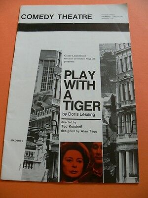 Play With A Tiger by Doris Lessing. Theatre Programme. 1962. William Russell etc