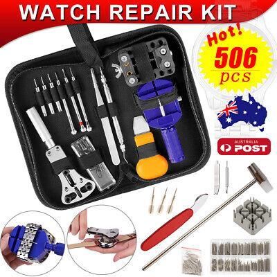 380pcs/20pcs Watch Opener Hand Watchmakers Remover Repair Tool Kit Set w/case AU