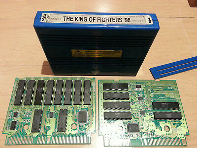 KING OF FIGHTERS 98 MVS NEO GEO BLUE CASE original holo label cart game jeu snk
