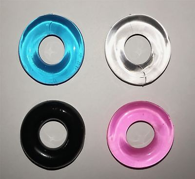 Silicone Penis Rings - Delay - Stay Hard - Flexible - CHOICE OF 4 COLOURS