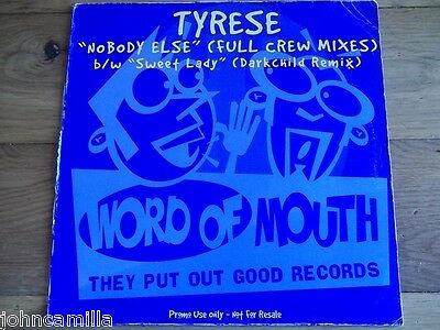 "Tyrese - Nobody Else 12"" Record / Vinyl - Word Of Mouth - Tyrese 1"
