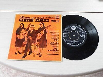 The Original And Great Carter Family Vol 1 Ep Uk Rca 1962 Bluegrass Pict Sleeve