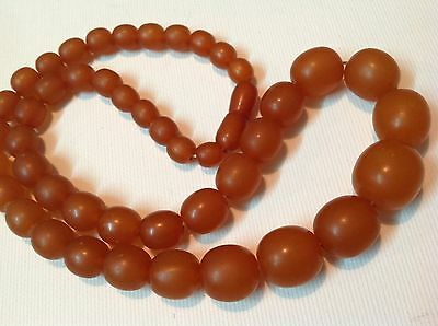 Antique Chinese Butterscotch Amazing Baltic Amber Bead 41.9 Gram necklace m1087