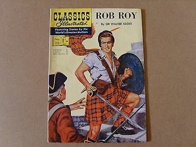CLASSICS ILLUSTRATED  No. 118 - ROB ROY by SIR WALTER SCOTT