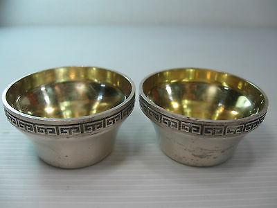 A Pair Of Small Solid Silver Vintage Russian Goblets/cups