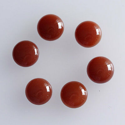 6MM Round Shape, Carnelian Calibrated Cabochons AG-227