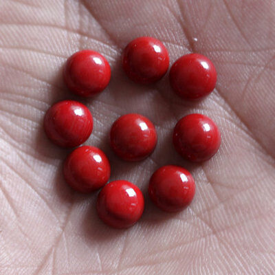 3MM Round Shape, Red Coral Calibrated Cabochons AG-231