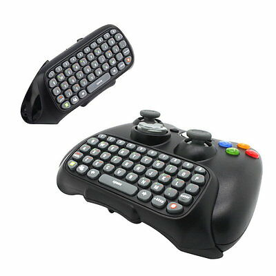 Wireless Controller Messenger Game Keyboard Keypad ChatPad For 360 Black YF
