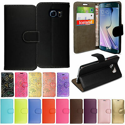 FOR Samsung Galaxy S8 S9 Plus S7 Edge FLIP LEATHER WALLET BOOK Phone Case Cover