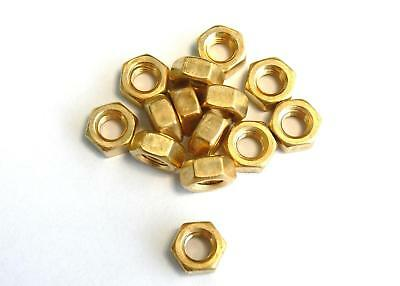 Hexagon nuts M1 / 1,2 / 1,4 / 1,6 , DIN 934 , Brass , Nut