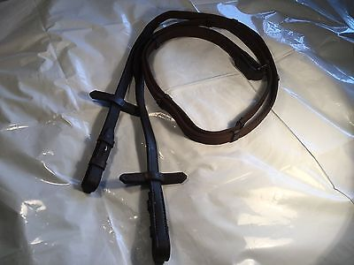 Brown Leather And Web Reins All Purpose Joined Or Split