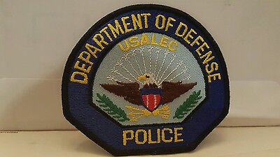 US Dept of Defense USALEC Police Patch 4 1 2 x 4 inches