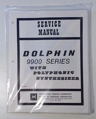 Original Hammond Dolphin 9900 Series w/Polyphonic Synthesize NEW Service Manual