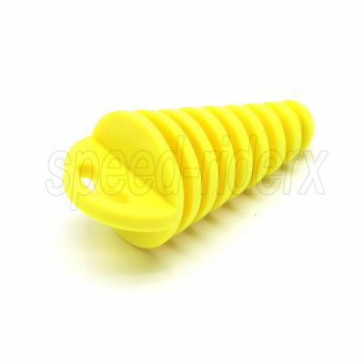 15-38mm Dirt Bike ATV Exhaust Muffler Wash Plug for Suzuki RM RMZ DRZ LTZ Yellow