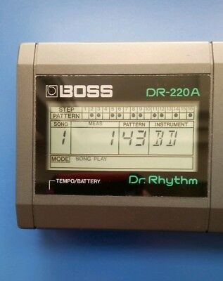 BOSS DR-220 Dr. Rhythm Drum Machine simmonds style electro beats 1985 1980s