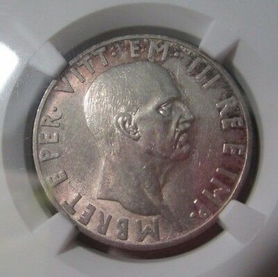 Albania 10 Lek 1939 Silver Coin Km#34 Italian Occupation Ngc Au58 3822990-011