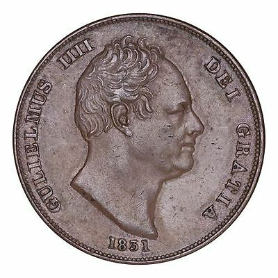 Great Britain William IV Copper Coin 1831 Penny WW initials - Rare
