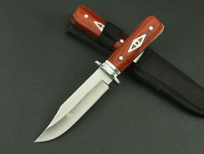 New Design RoseWood Handle Fixed Blade Hunting Hunter Knife H-Hunter