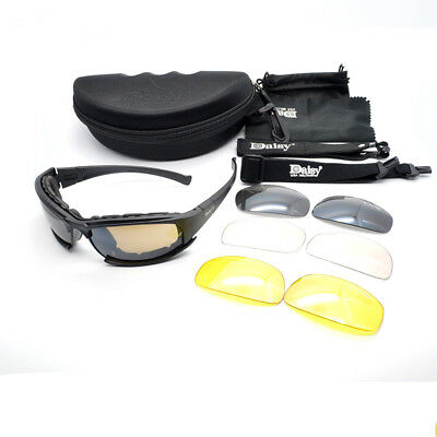 Polarized Daisy X7 Army Sunglasses 4 Lens Kit, Military War Game Goggles