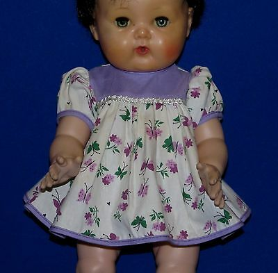 """1950's Factory Butterfly Print DRESS for 15"""" Tiny Tears MINT DRESS ONLY 4 Sale!"""