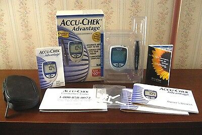ACCU-CHECK ADVANTAGE DIABETES MONITORING KIT! NEW IN BOX! Glucose Meter + Others