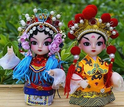 Peking Opera doll Q version doll King and Queen 2PCS Tang Dynasty business gift