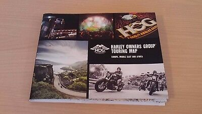 Harley Davidson Owners Group Touring Map - Europe,middle-East,africa 2017