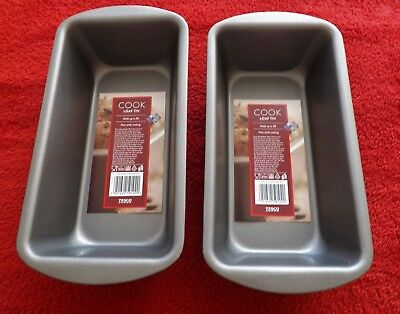 2x  Cook. LOAF tins   TEFLON. nonstick  holds upto  2lbs.